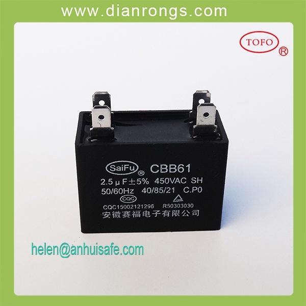 2.5UF 450V Ceiling Fan Wiring Diagram Capacitor Cbb61