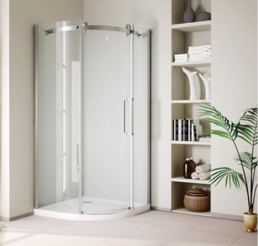 Bathroom 8mm Big Roller One Door Quadrant Shower Enclosure (BN-BRSQD90)