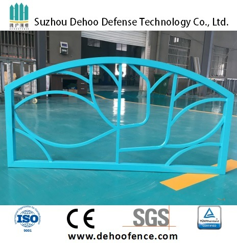 Ce/SGS Light Blue Powder Coated Galvanzied Steel Highway Fence