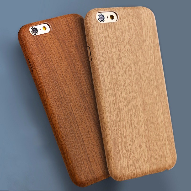 OEM PU Bamboo Wooden Cell Phone Case for iPhone 7