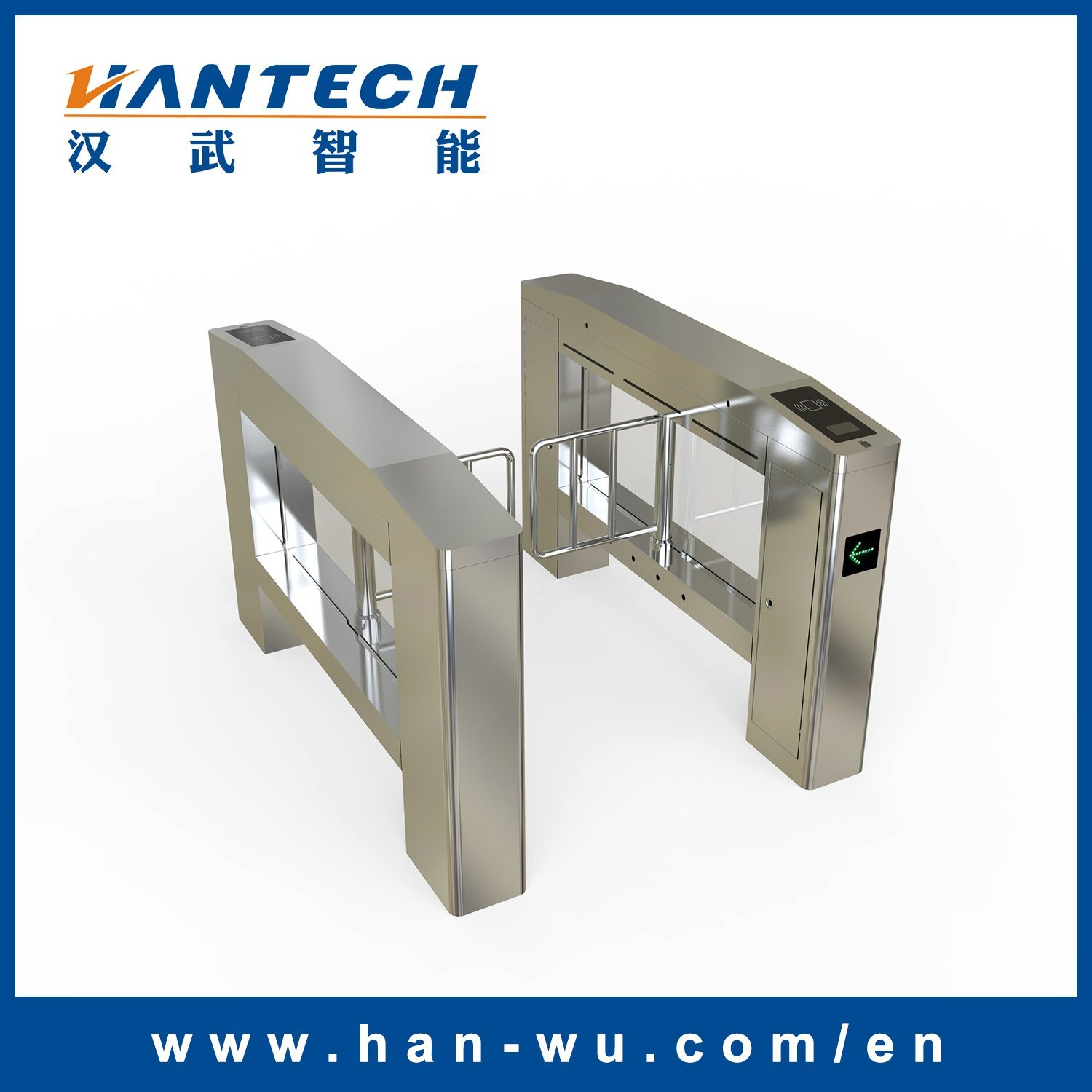 Access Control Turnstile Barrier with Display Screen
