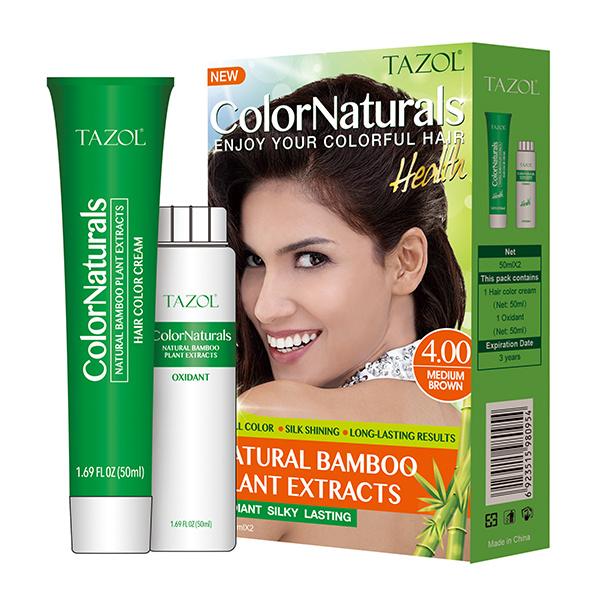4.0 Bamboo Hair Color Cream Hair Dye in 60ml *2+10ml Hair Care