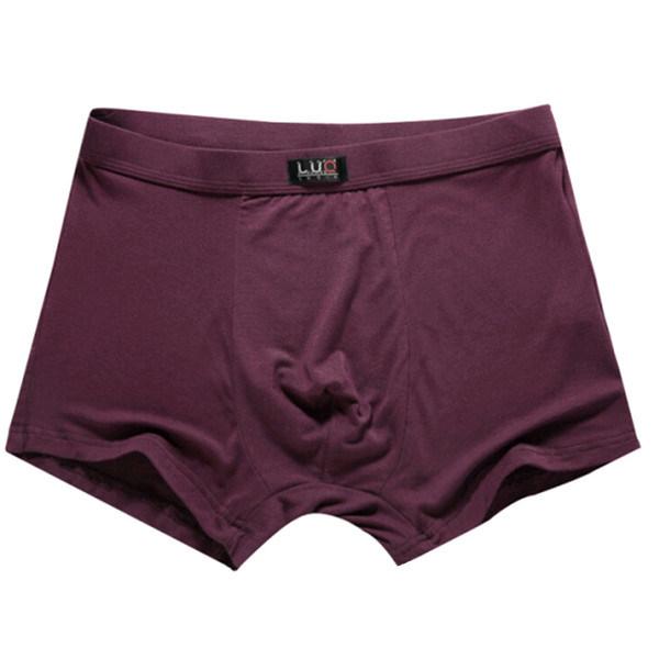 Men Cheap Underwear Modal Polyester Boxer Shorts