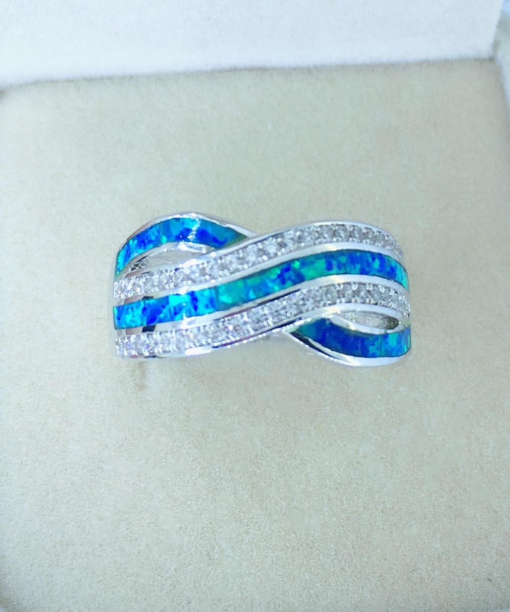 925 Silver Opal Jewelry Rings