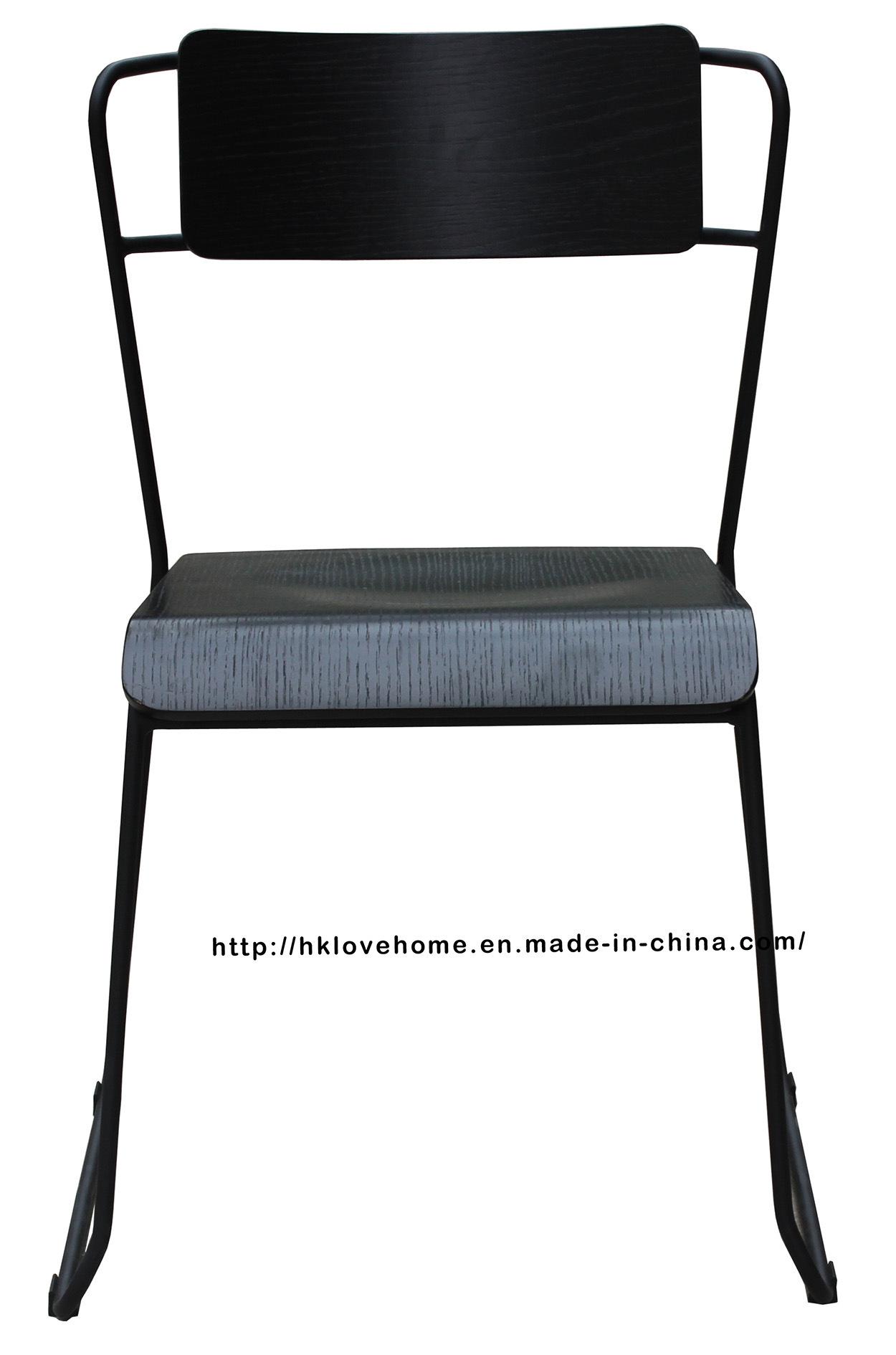 Modern Metal Furniture Wooden Side Restaurant Chair