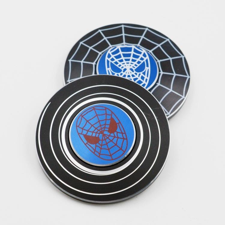 Popular Spider Man Metal Hand Spinners Zinc Alloy Fidget Spinners