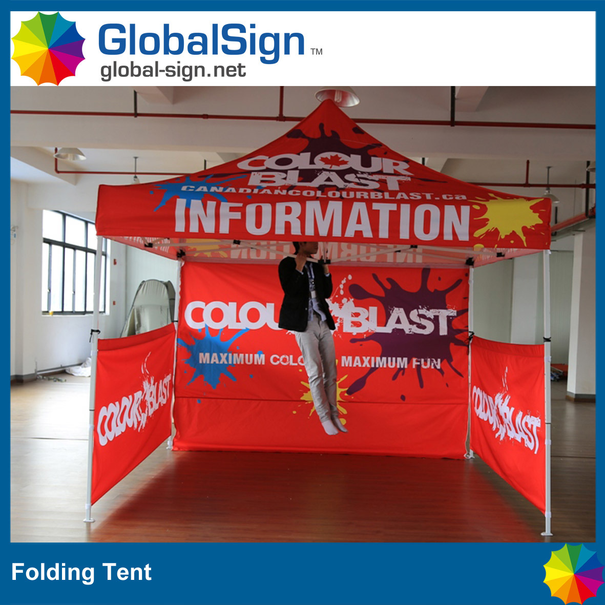 High Quality 3 M *3 M Advertisement Promotion Pop up Steel Folding Tent