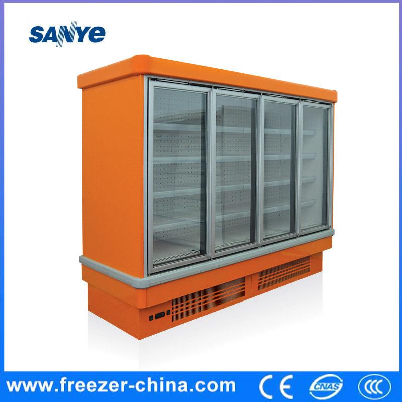 Supermarket Plug in Vertical Glass Door Freezer