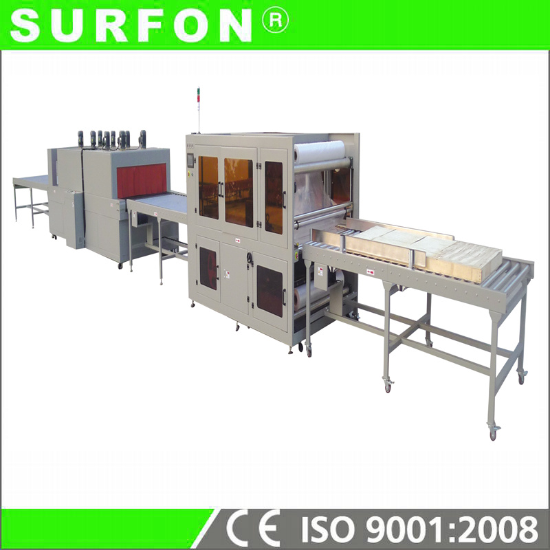 Full Closed Furring PE Film Sealer and Shrink Wrapping Machine