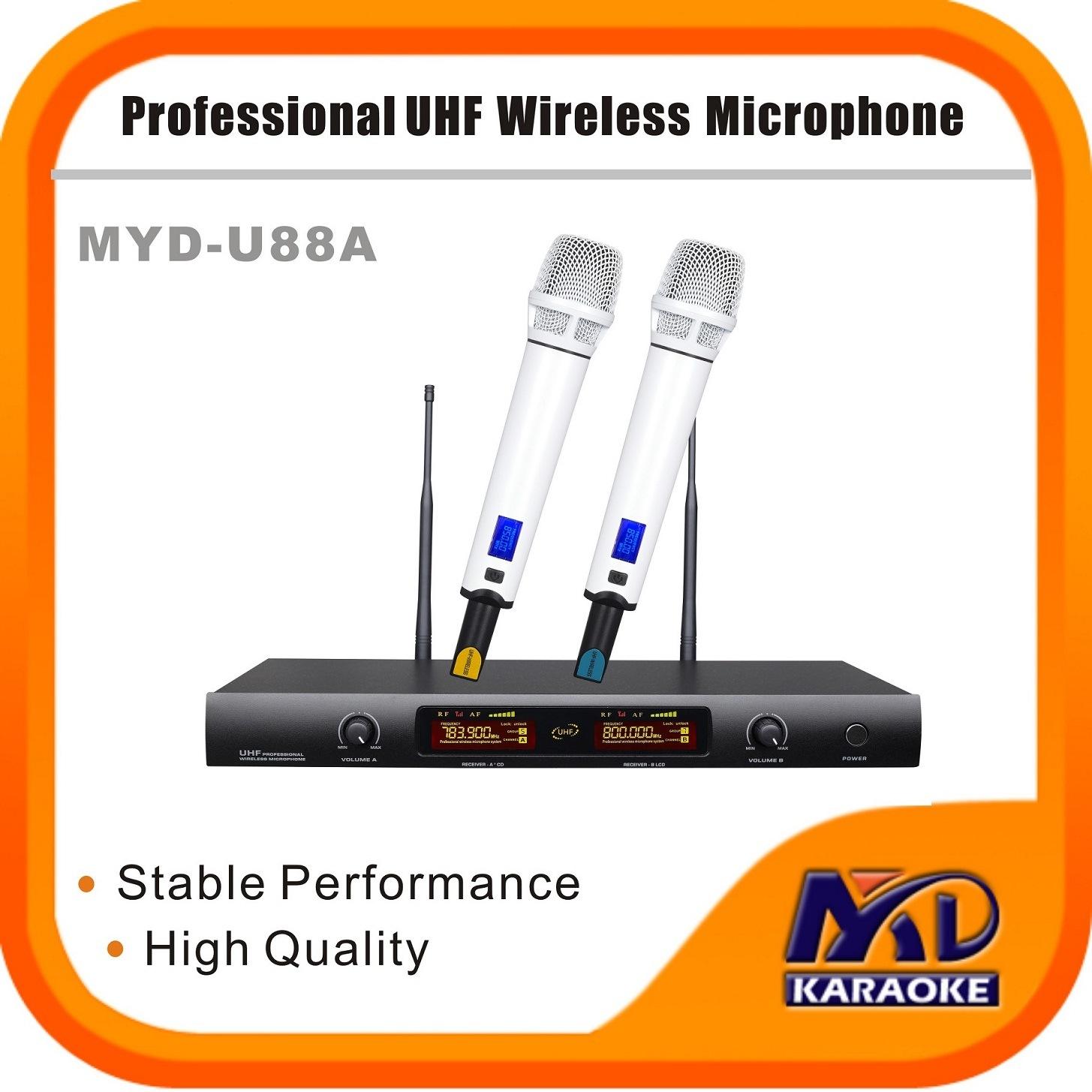 UHF Wireless Microphone LED Display