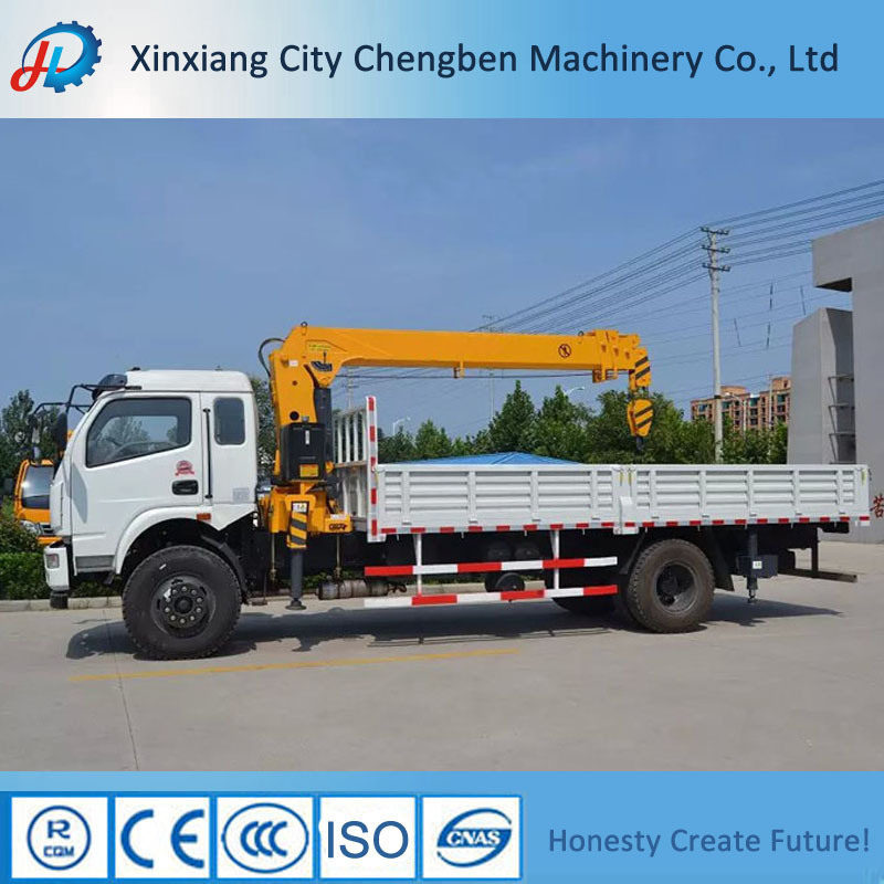 8 Tons Truck Crane Hydraulic Mobile Crane Truck Mounted Crane