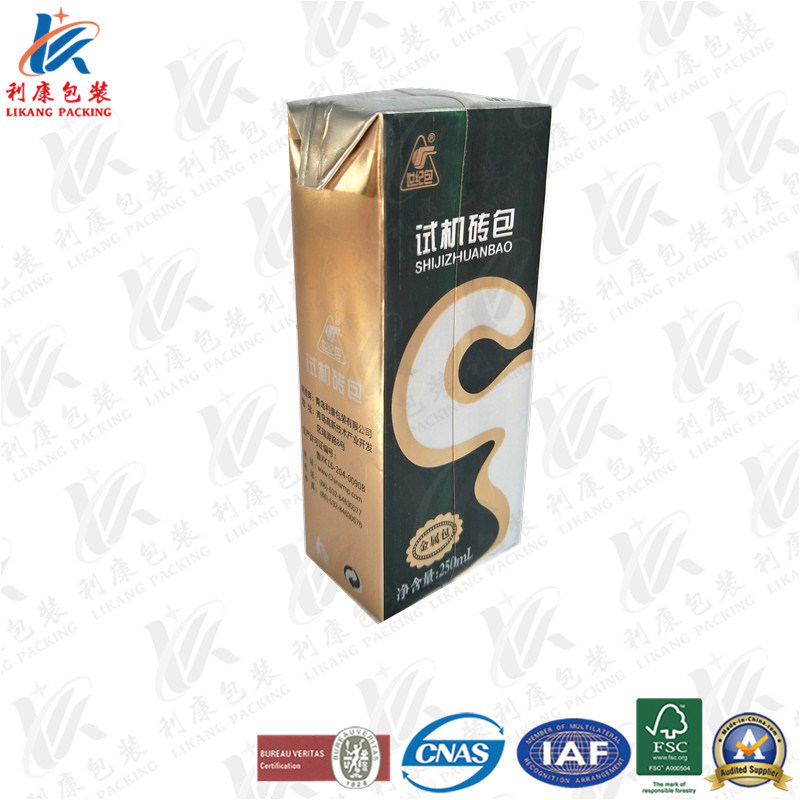 250ml Metallic Aseptic Packaging Carton with Special Technology