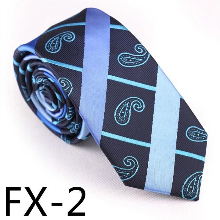 New Design Fashionable Stripe Paisley Necktie (Fx-2)