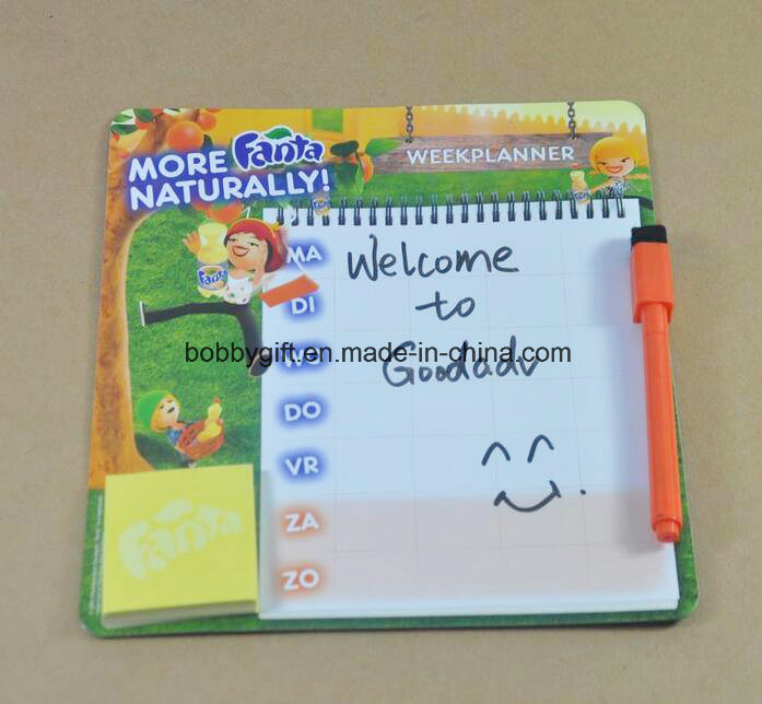 Customized Memo Pad Magnetic Paper Notepad for Fridge