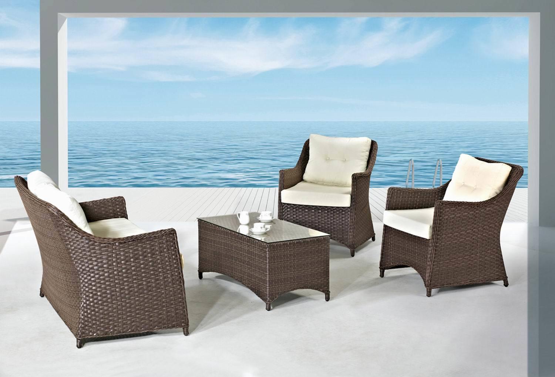 Home Furniture Modern Outdoor Rattan/Wicker Sofa Leisure Garden Furniture