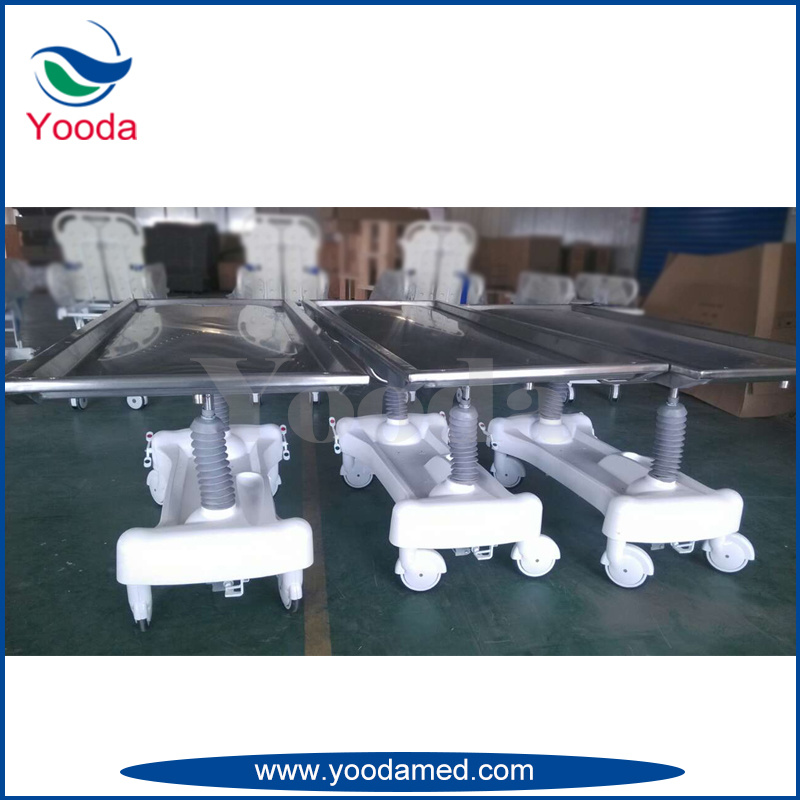 Hydraulic Stainless Steel Funeral Products Autopay Embalming Table