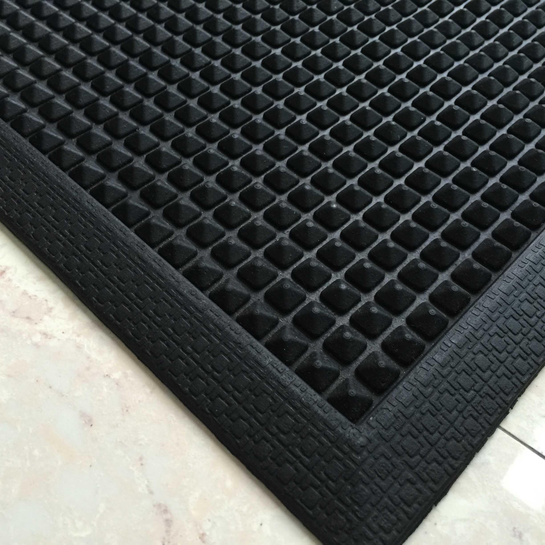 Anti Slip Non Skid Natural Recycled Tire Tyre Rubber Outdoor Indoor Welcome Entrance Rubber Floor Door Mats