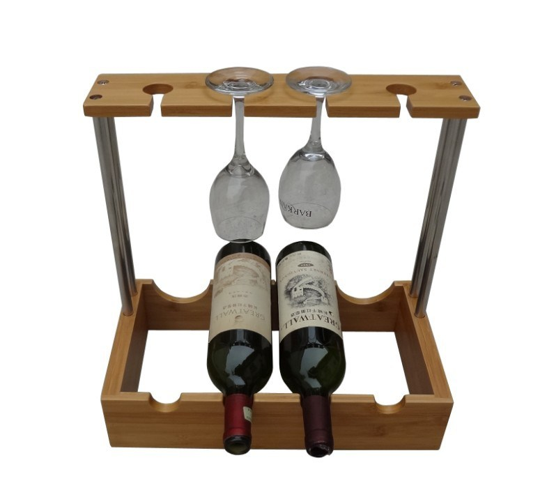 Bamboo Wine Rack With Cup Holder Jd Wr021 Photos Pictures