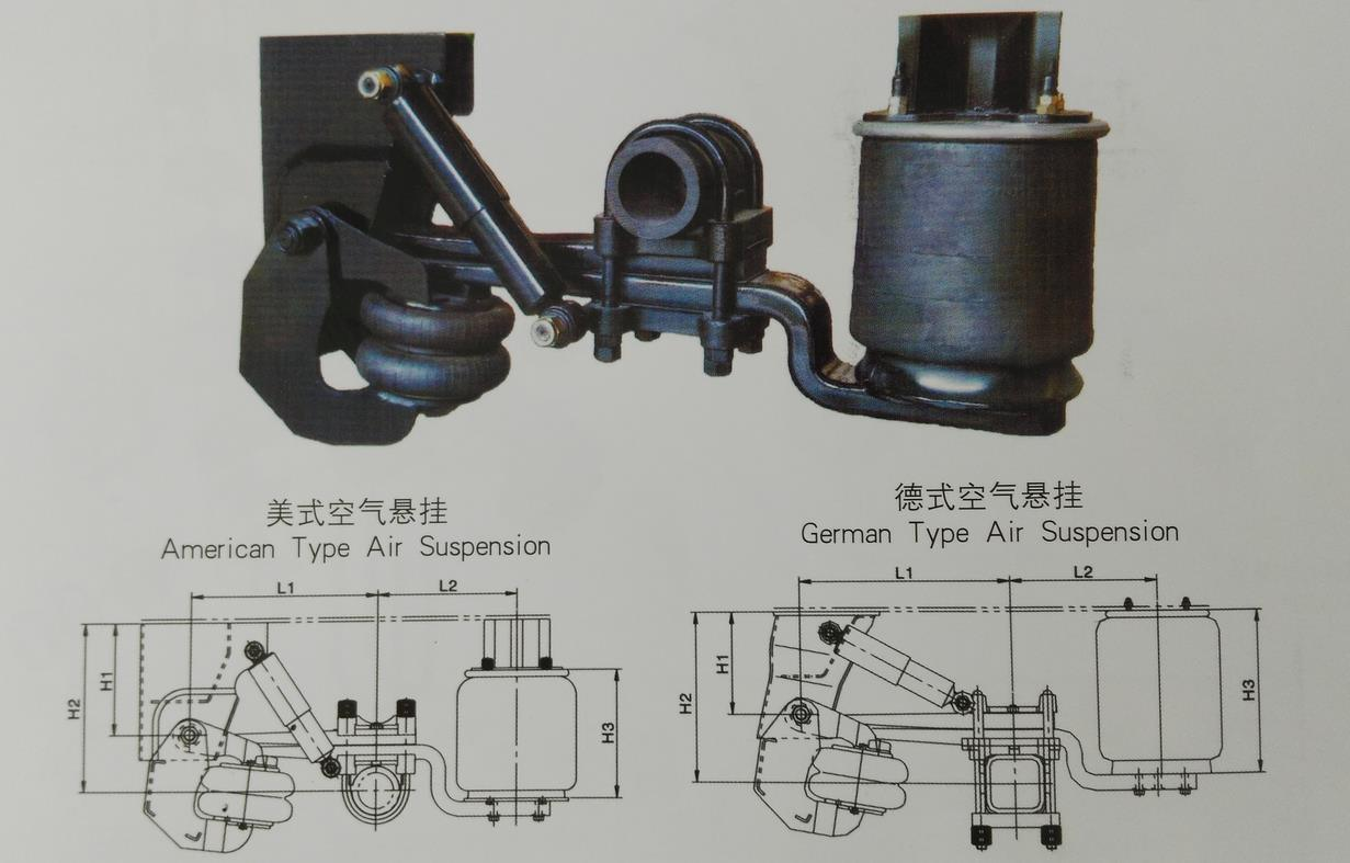 Germany Type 9ton / 11ton Air Suspension Parts for Semi Truck Trailer