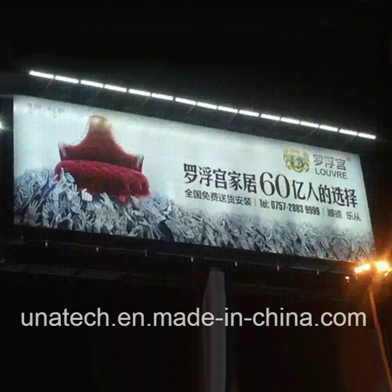 Outdoor Tri-Vision Billboard Solar LED Steamlined Floodlight