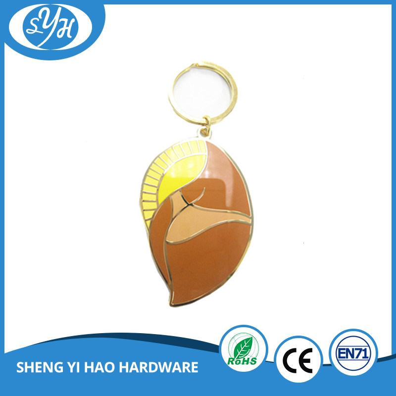 Creative Design Gold Plating Custom Hard Enamel Keychain