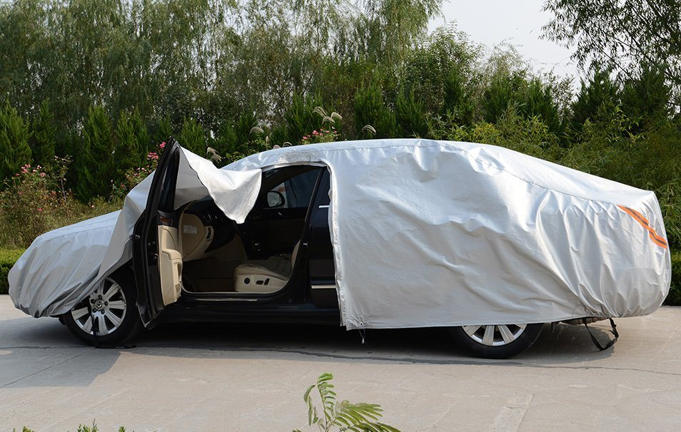 High Quanlity Folding Silver PEVA Theftproof Waterproof Car Cover for Das Auto