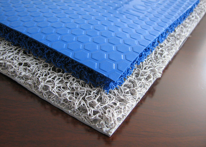 Anti-Slip Rubber Sheet, PVC Coil Mat with Firm Backing