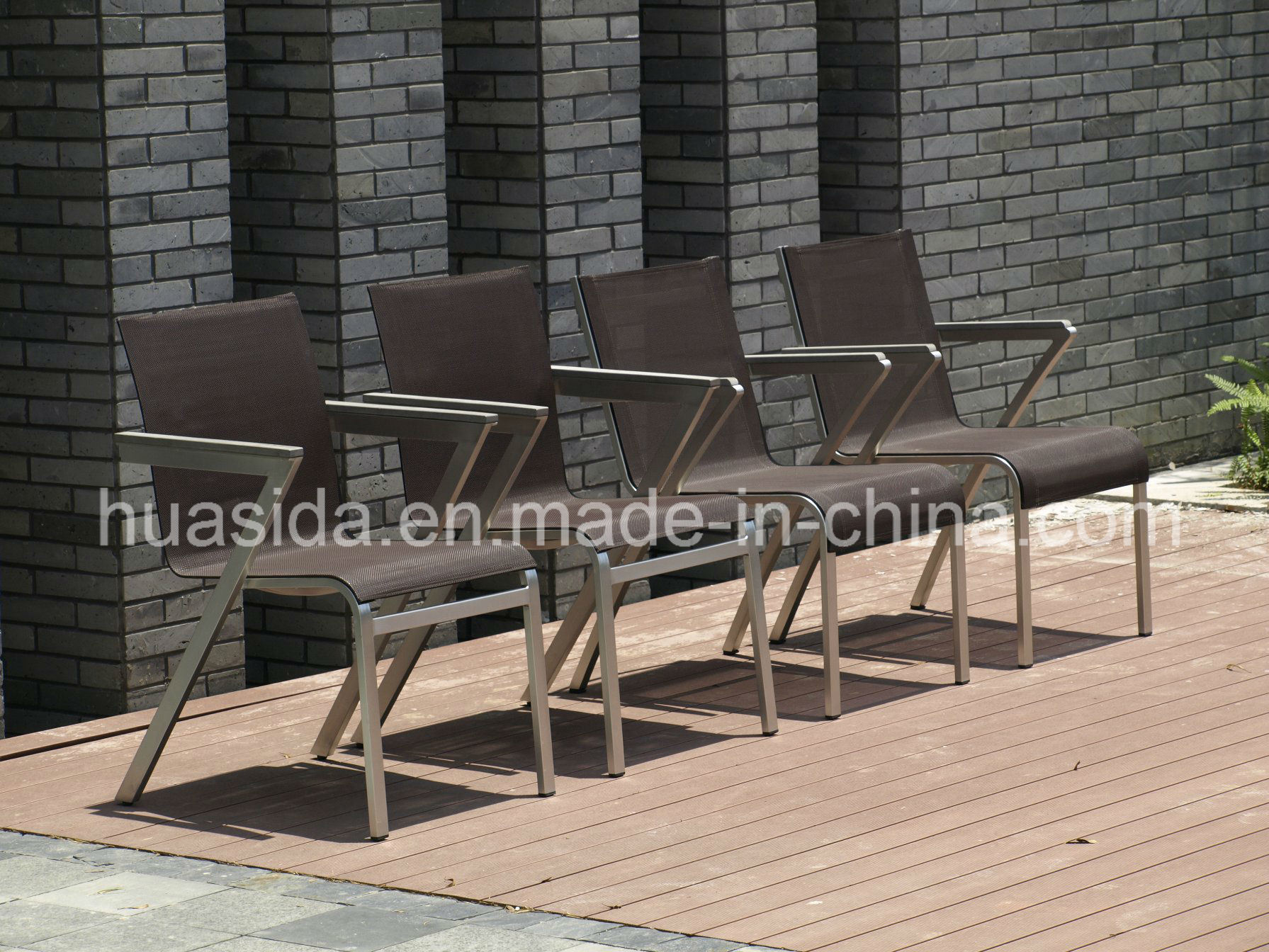 1.6m 4-Seats Stainless Steel Dining Table Set