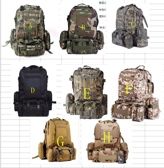 Tactical Backpack Military Camping Backpack Nylon Canvas Bag