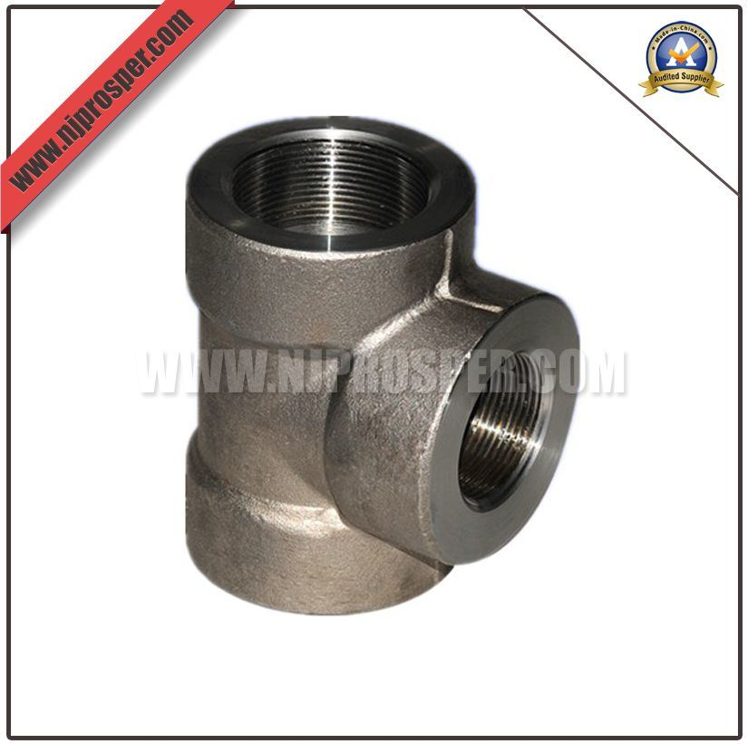 Forged Steel Threaded Equal Tee (YZF-F372)