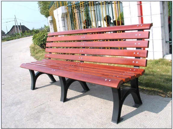 China Cast Iron Park Bench L1800 W670 H815 China Camphor Wood Bench Garden Bench