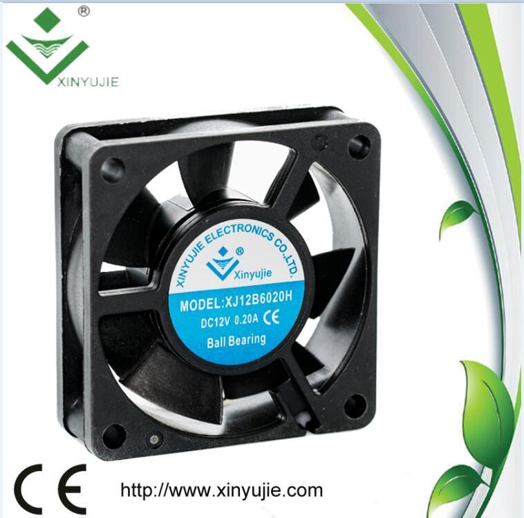 High Pressure Axial Flow Fans 12V 6020 60mm 60X60X20mm