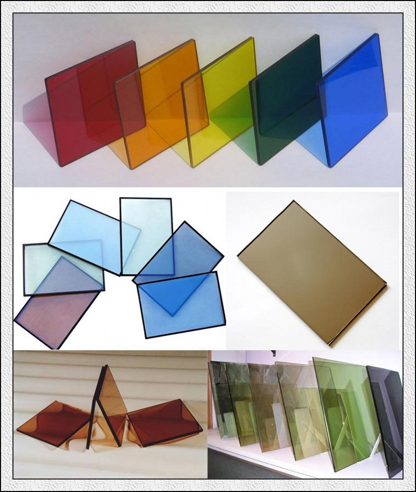 4mm Green, Blue, Bronze, Clear, Pink Reflective Glass for Building