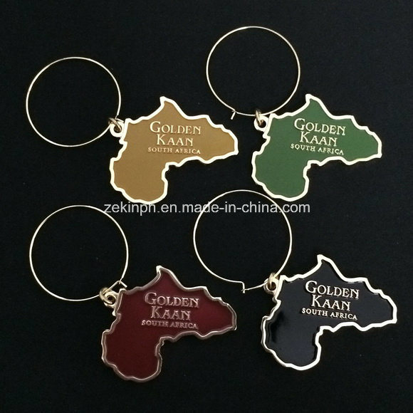 Customized South Afica Map Metal Keychain