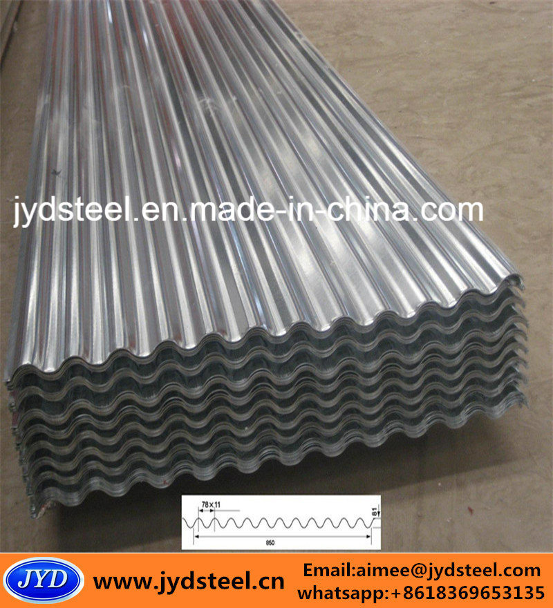 Corrugated Zinc Coated Steel/Metal/Iron Sheet
