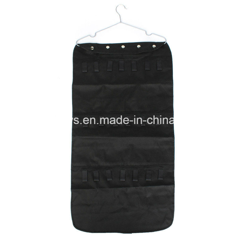 Black Fabric Jewelry Hanging Storage Organizer