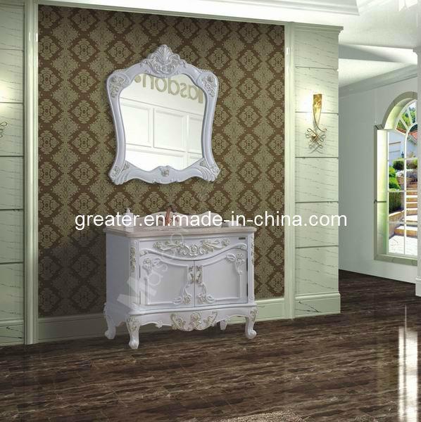 Armário de banheiro de madeira do estilo antigo (GD98306) –Armário de banheir -> Armario De Banheiro Antigo