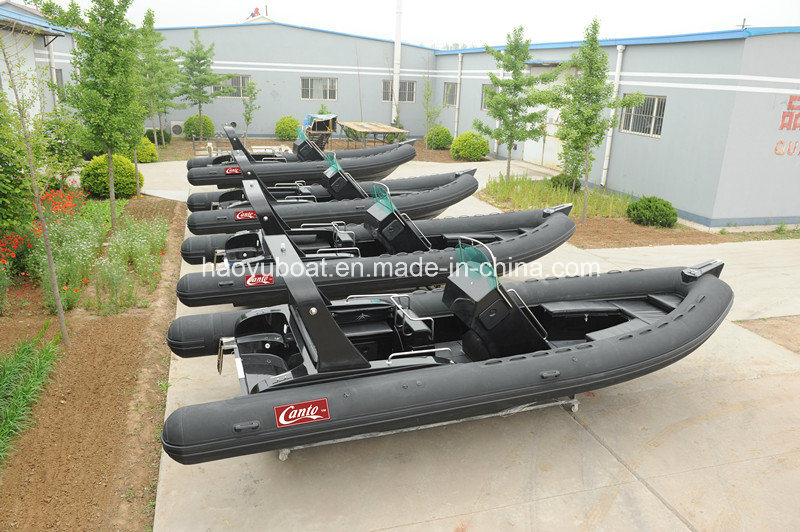 Fiberglass Boat, Outboard Motor Boat, Luxury Rib Boat Hypalon Speed Boat /Yacht Rib730b Made in China with CE Cert.