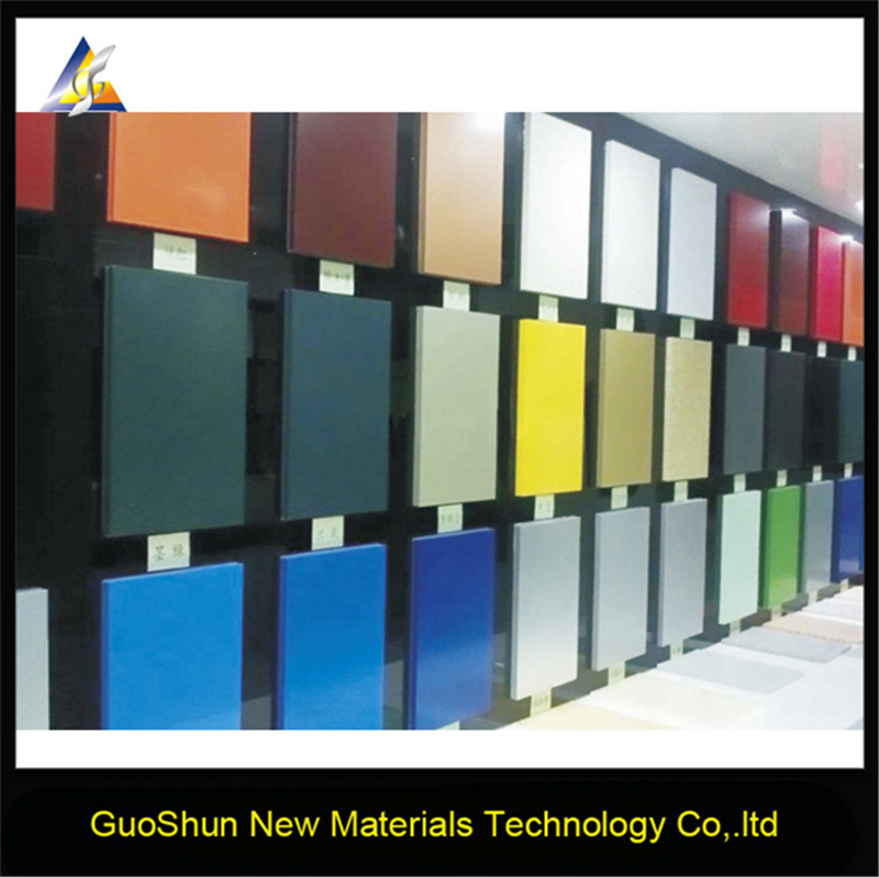 Weather Resistance Solid Color Building Material Aluminum Honeycomb Sandwich Panel