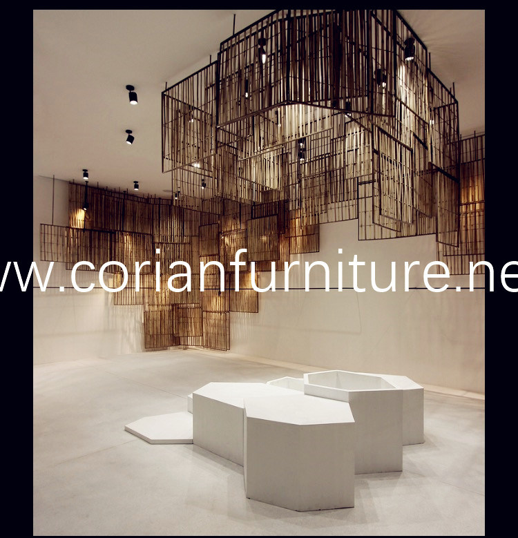 Acrylic Solid Surface Display Unites for Public Place Musem