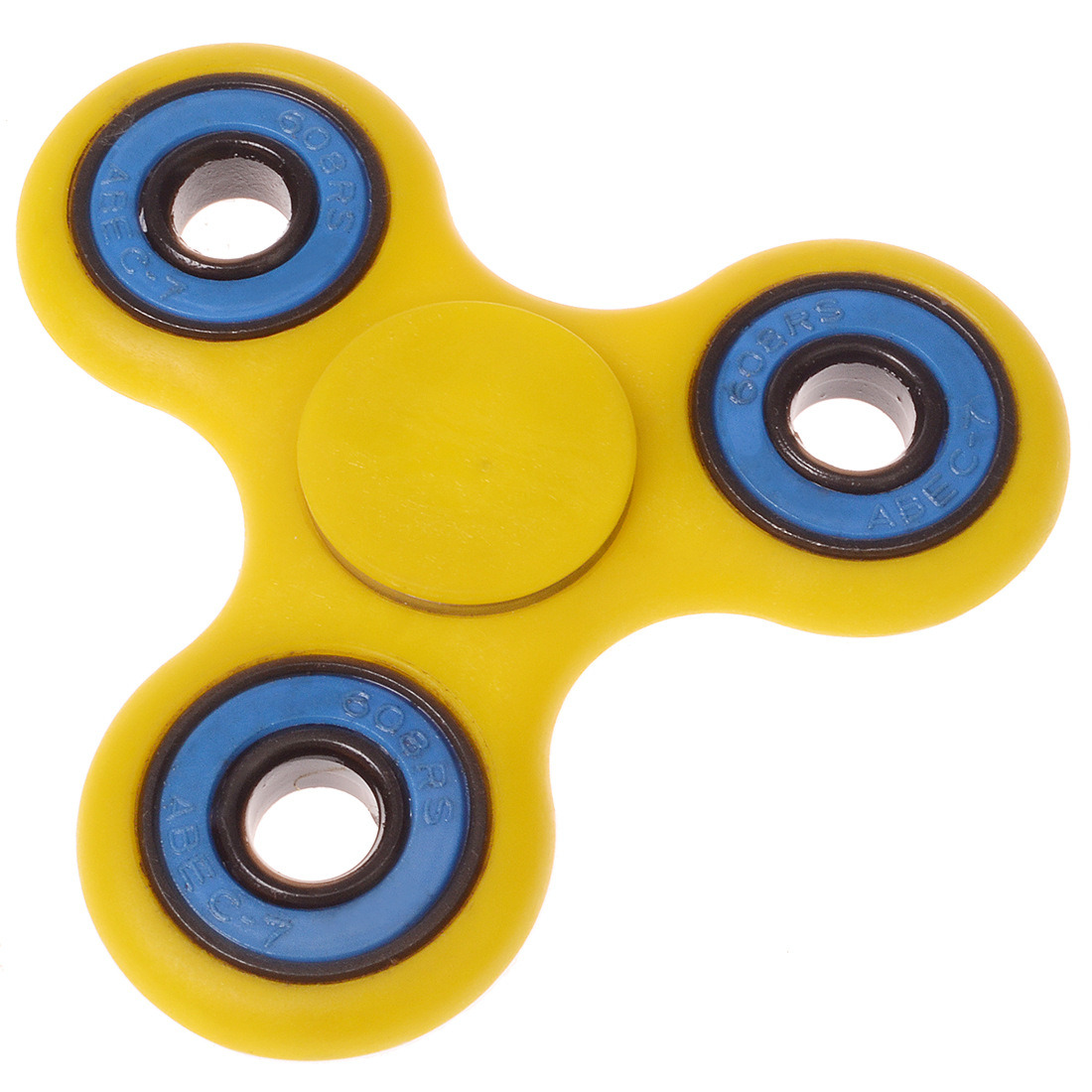 Stress Relief Anxiety Autism Toy Yellow Colorful Fidge Hand Spinner