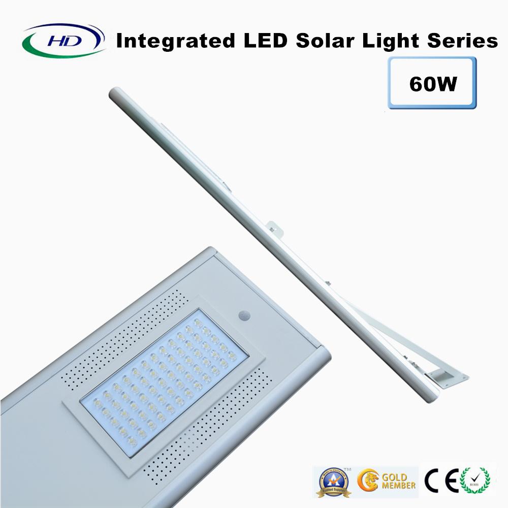 60W PIR Sensor Integrated LED Solar Street Light