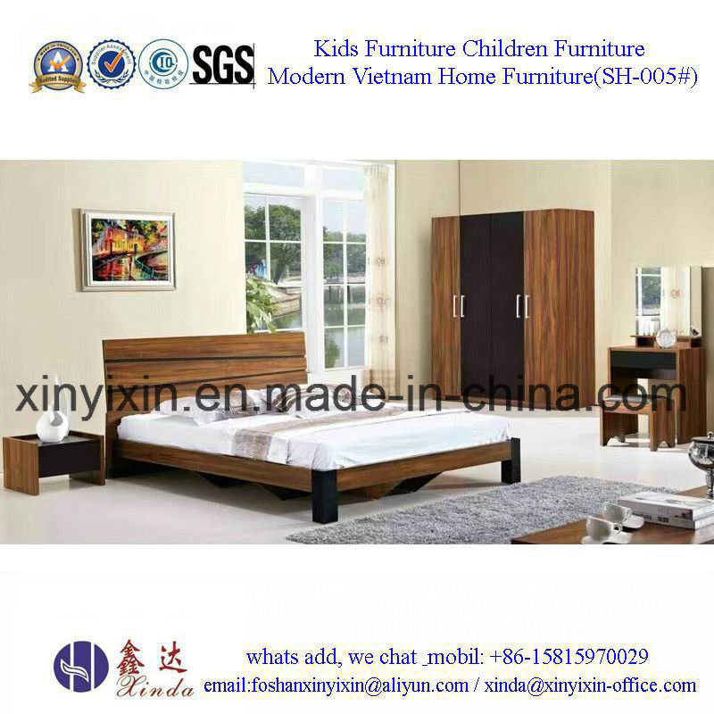 Easy Assembled Bedroom Sets Furniture Wooden Bed (SH-003#)