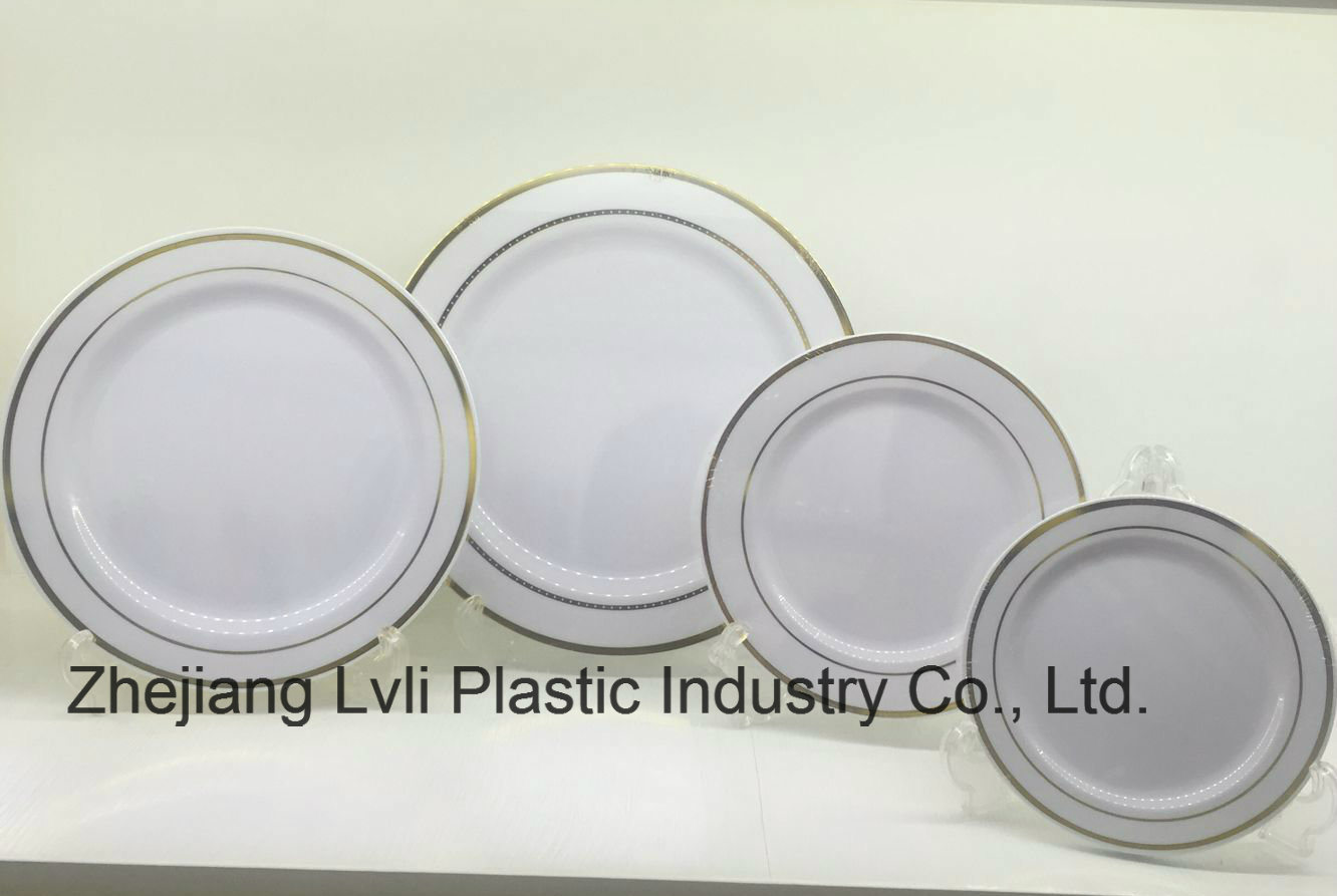Plastic Plate, Disposable, Tableware, Tray, Dish, Colorful, PS, SGS, Hot Stamp Plate, PA-03