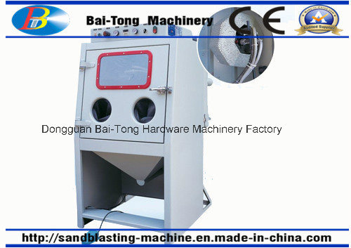 Sandblasting Machine with Roller Basket 9080d Especially for Small Parts
