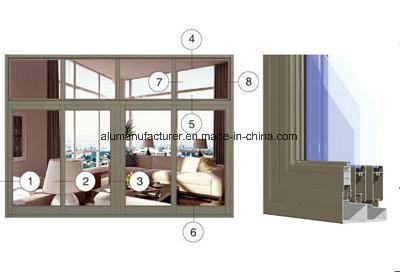 78g Series Sash Aluminium Alloy Extrusion Profile for Door and Window