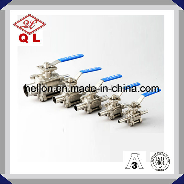 Sanitary Stainless Steel 3 Way Clamped Ball Valve