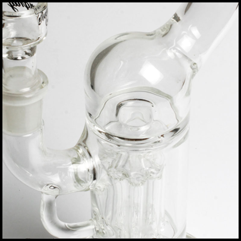 Hfy Glass Sovereignty Glass Pillar Perc Hookah Tobacco Bubbler Wholesale Smoking Glass Water Pipe