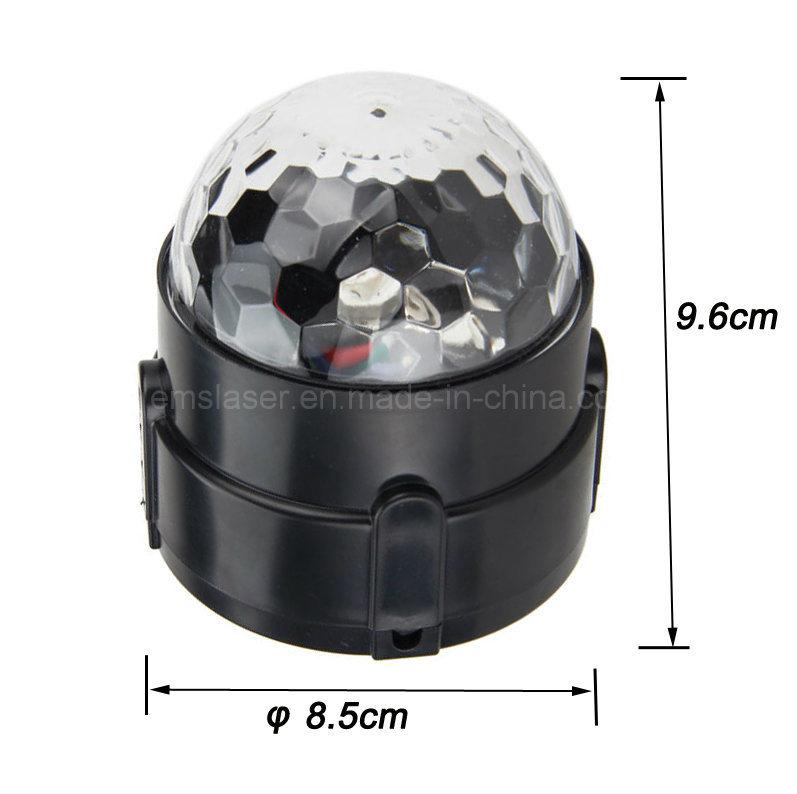 3W RGB Crystal Magic Rotating Ball Remote Control LED Magic Ball Lights for KTV Xmas Party Club Pub Disco DJ