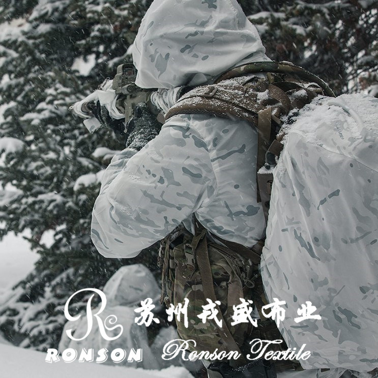 Multicam Alpine, White Snow Cp Camouflage, Polyester Cordura Fabric